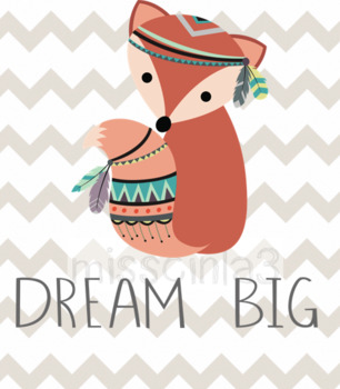 "Classroom Decor - ""Dream Big"""