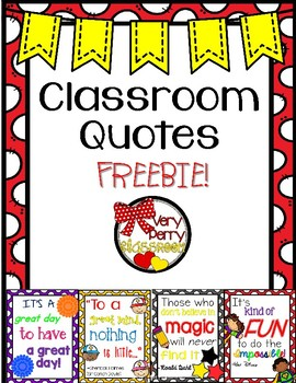 Classroom Quotes Freebie!