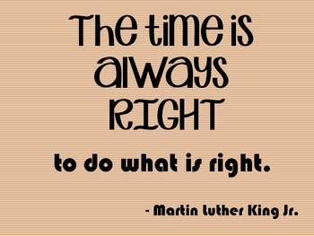 Classroom Quotes - Martin Luther King Jr.