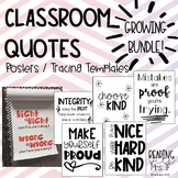 Classroom Quotes Posters & Tracing Templates