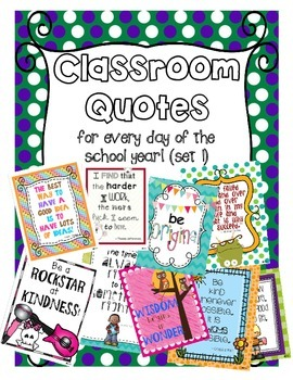 Classroom Quotes Posters for Every Day of the Year!
