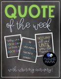 Classroom Quotes - Quote of the Week