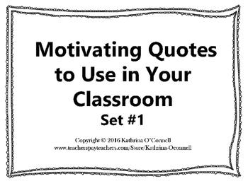 Classroom Quotes: Set 1