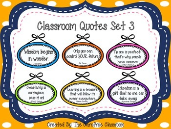 Classroom Quotes Set 3