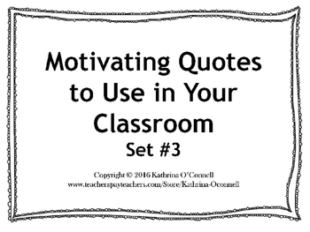 Classroom Quotes: Set 3