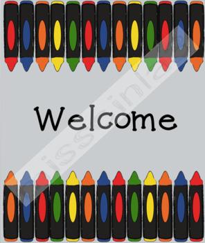 #ausbts18 Classroom Decor - Welcome