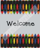 Classroom Decor - Welcome