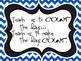 Classroom Quotes and Typography for Teachers (Blue and White Chevron)