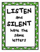 Classroom Quotes with green polka dot boarder