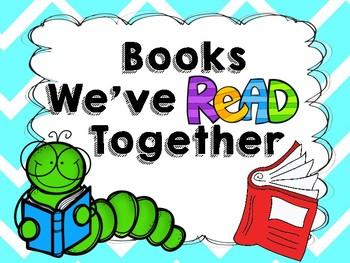Classroom Read Aloud Book Sign