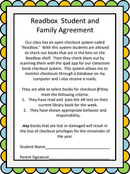 Classroom Readbox Agreement
