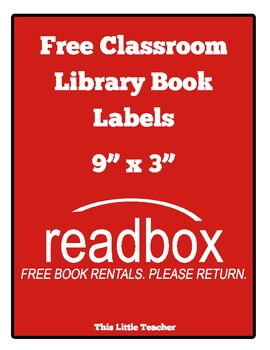 "Classroom ""Readbox"" Labels - Free Book Rentals. Please Return. {Free Download}"