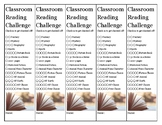 40 Book Classroom Reading Challenge Bookmarks