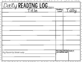 Classroom Reading Log