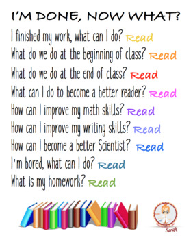 Classroom Reading Poster