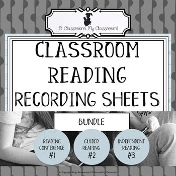 Classroom Reading Recording Sheets - BUNDLE - Everything y