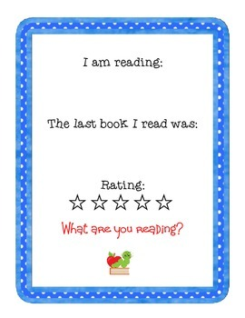 Classroom Reading Sign