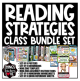 Reading Strategies, 9 Characters, MEGA BUNDLE of 57 Pages