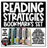 Reading Strategies Bookmarks Set, Set of 9 Characters (USA