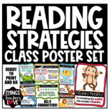 CLASSROOM READING STRATEGIES - A4 Classroom Posters, 9pgs