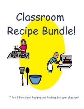 Classroom Recipes and Recipe Review Bundle