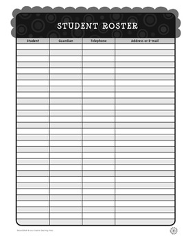 Classroom Record Book - BW Collection