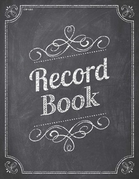 Classroom Record Book - Chalk It Up!