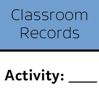 Classroom Records Arts And Crafts Night Sign In Sheet By Cornucopia