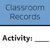 Classroom Records: Family Night Sign-In Sheet