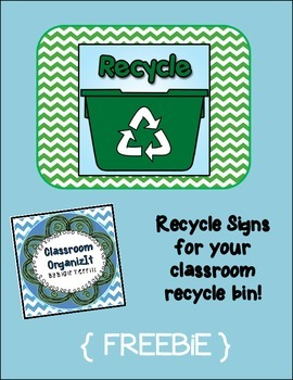 Classroom Recycle Signs