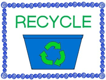 Classroom Recycle Station Posters