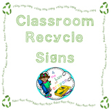 Classroom Recycling Signs