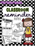Classroom Reminder Notes For Entire Year! {EDITABLE}