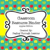 Classroom Resource Binder - Apples