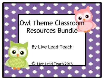 Classroom Resource Bundle- Owl Theme