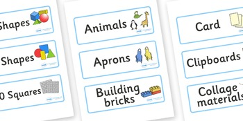Classroom Resource Labels- Blue