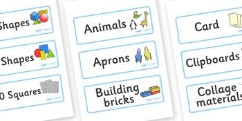Classroom Resource Labels- Blue