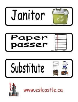 Classroom Responsibilities