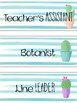 Classroom Responsibilities Cactus Theme