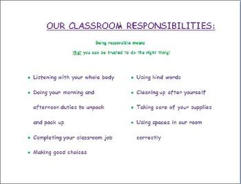 Classroom Responsibilities Poster