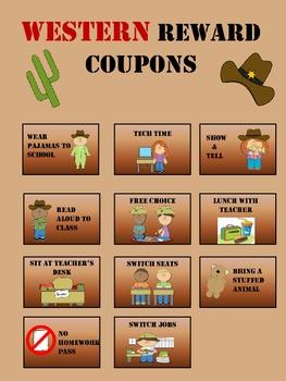 Classroom Reward Cards WESTERN