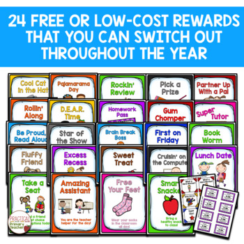 Classroom Reward Catalog and Labels