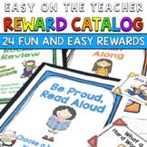 Classroom Reward Catalog and Labels