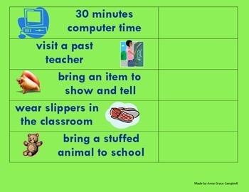 Classroom Reward Chart