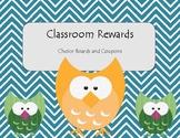 Classroom Reward Choice Board or Coupons