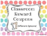 [**Editable**] Classroom Reward Coupons!