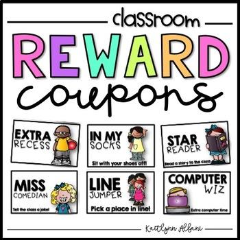 Classroom Reward Coupons