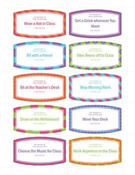 Classroom Reward Coupons FREEBIE!