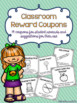 Classroom Reward Coupons
