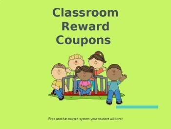 Classroom Reward Coupons Printables